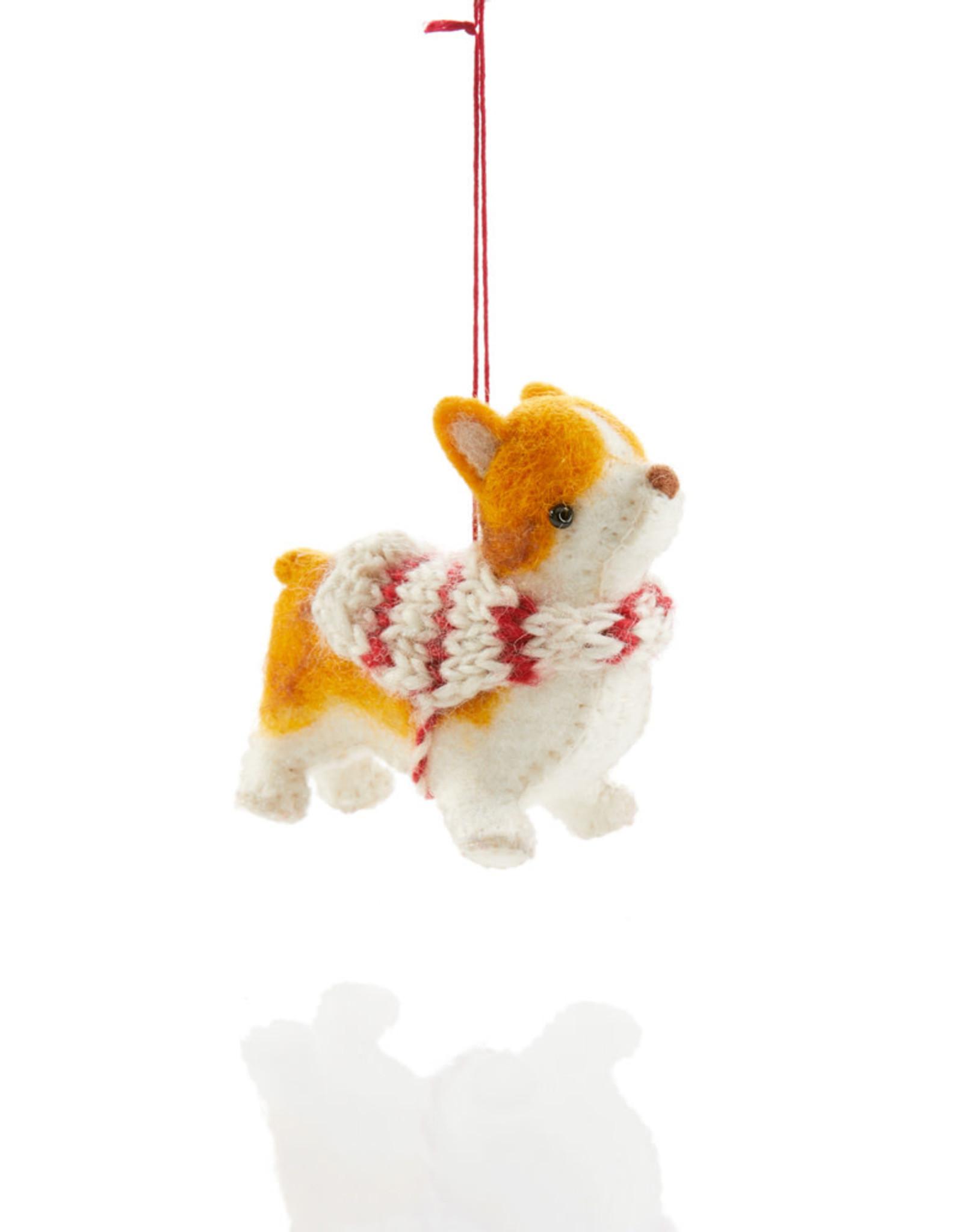 Serrv Corgi Ornament