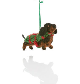 Serrv Dachshund Ornament