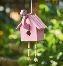 Serrv Pink Flamingo Birdhouse