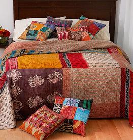 Serrv Queen-Size Kantha Patchwork Quilt