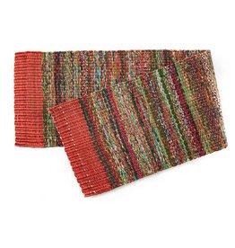 Serrv Red Sari Table Runner