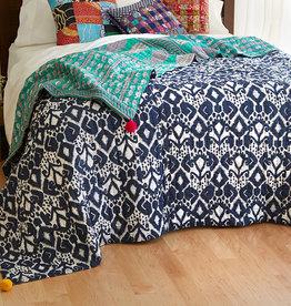 Serrv Reversible Ikat/Sari Bedcover