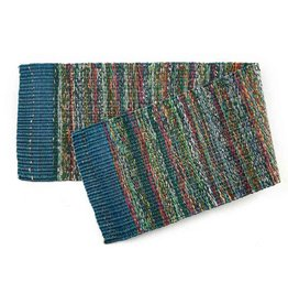 Serrv Teal Sari Table Runner