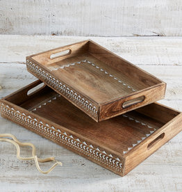 Serrv Large Mango Wood Tray