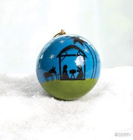 Serrv Moonlight Nativity Ornament