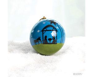 Moonlight Nativity Ornament Bunyaad