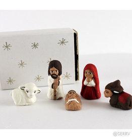 Serrv Tiny Matchbox Nativity 5pc+box