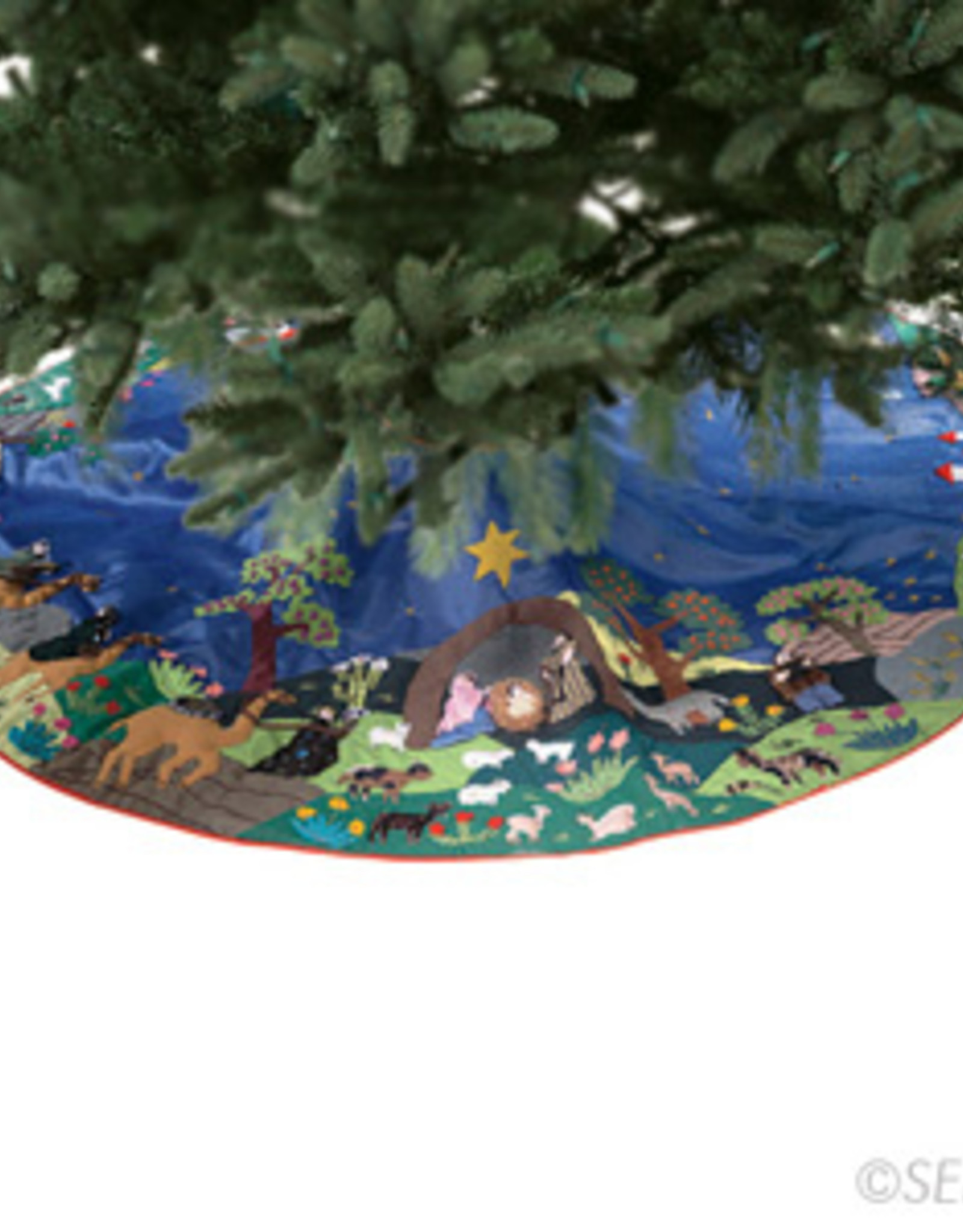 Serrv Arpillera Nativity Tree Skirt