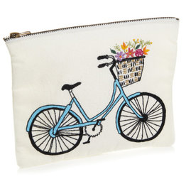 Serrv Bicycle Zipper Pouch - Medium