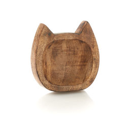 Serrv Carved Kitty Trinket Dish