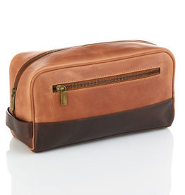 Serrv Copper & Chestnut Leather Dopp Bag