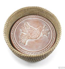 Serrv Peace Dove Breadwarmer in Natural Basket