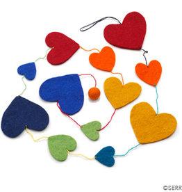 Serrv Rainbow Heart Garland