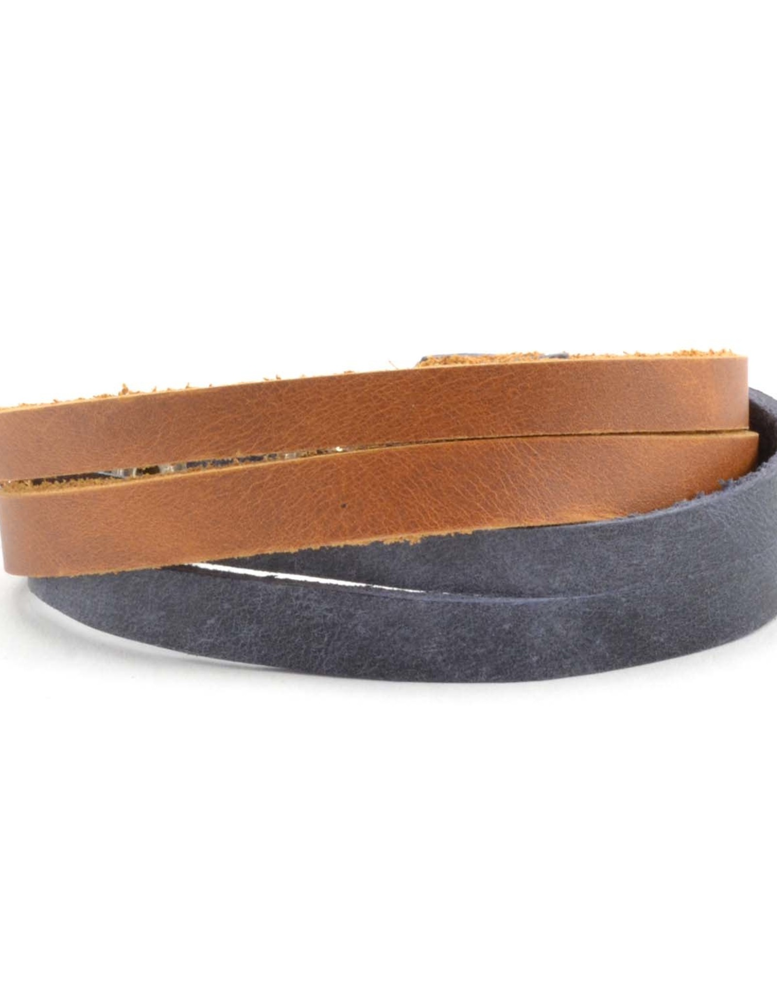 Lucia's Imports Criss Cross Leather Bracelet