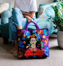 Lucia's Imports Frida Kahlo Embroidered Tote Bag