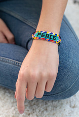 Lucia's Imports Peace Beaded Friendship Bracelet