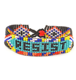 Lucia's Imports Resist Beaded Friendship Bracelet