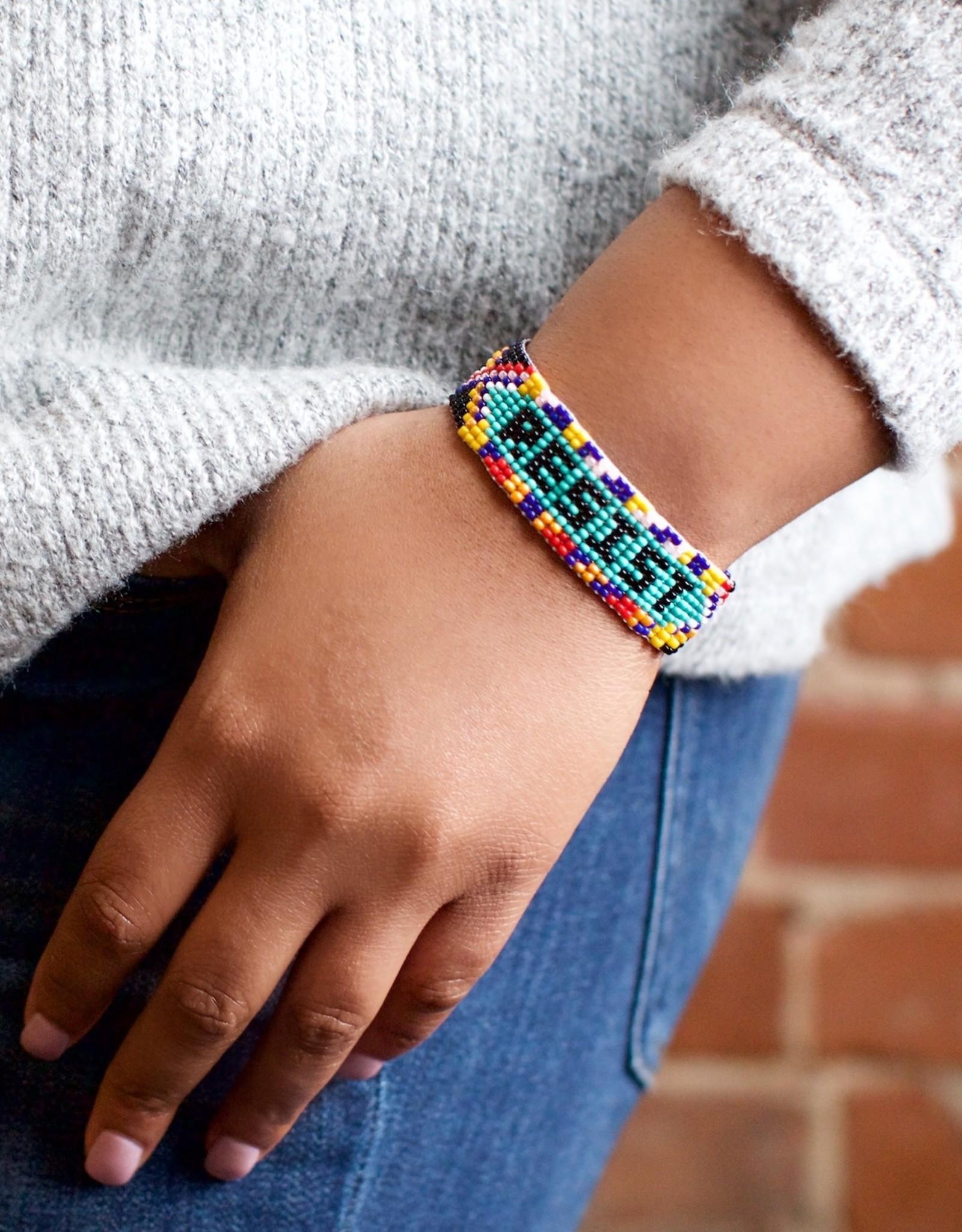 Lucia's Imports Resist Beaded Friendship Bracelet