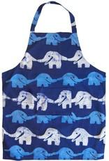 Apron Adult Elephant Blue