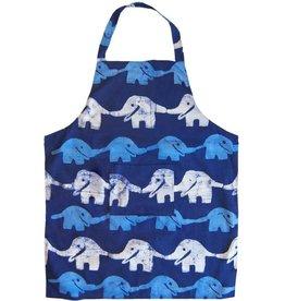 Global Mamas Apron Adult Elephant Blue