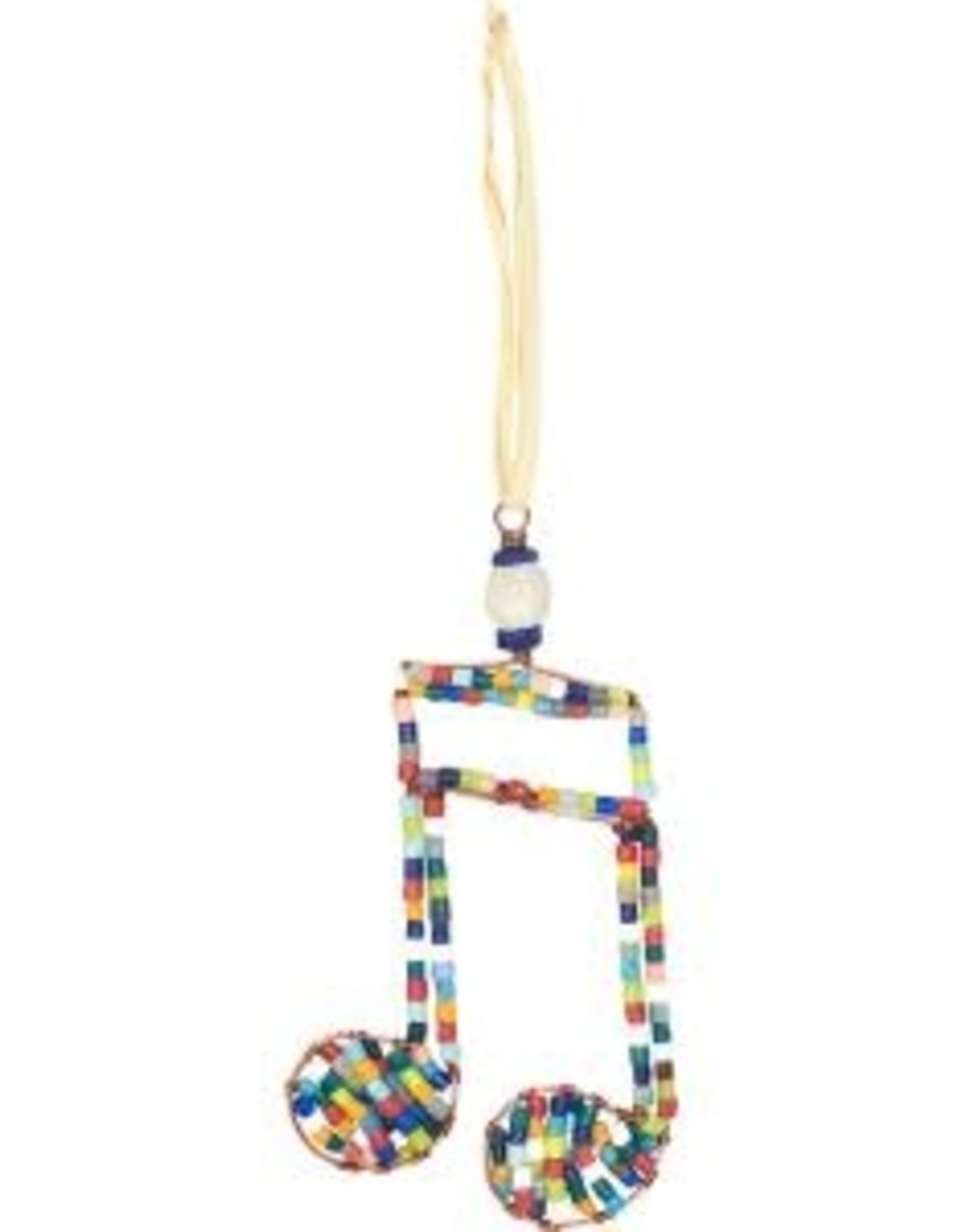 Beaded Double Musical Note Ornament