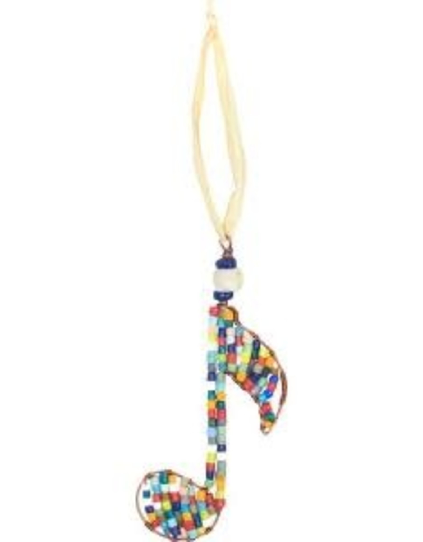 Beaded Single Musical Note Ornament