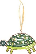Beaded Green Turtle Ornament