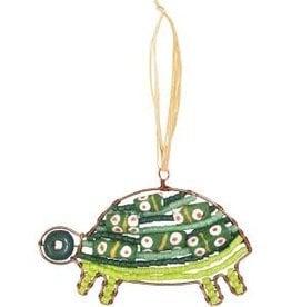 Global Mamas Beaded Green Turtle Ornament