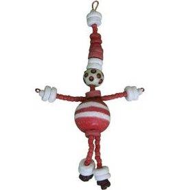 Global Mamas Beaded Red Santa Ornament