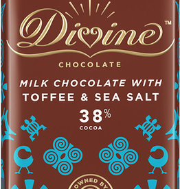 Divine Chocolate Milk Chocolate with Toffee and Sea Salt