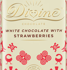 Divine Chocolate White Chocolate with Strawberries