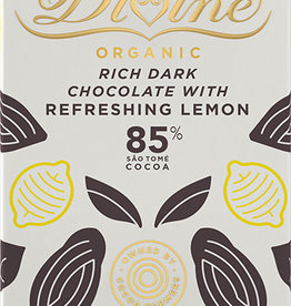 Divine Chocolate 85% Dark Chocolate with Refreshing Lemon