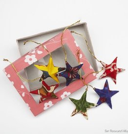 Ten Thousand Villages Sari Star Ornament Set