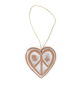 Ten Thousand Villages Peaceful Heart Ornament
