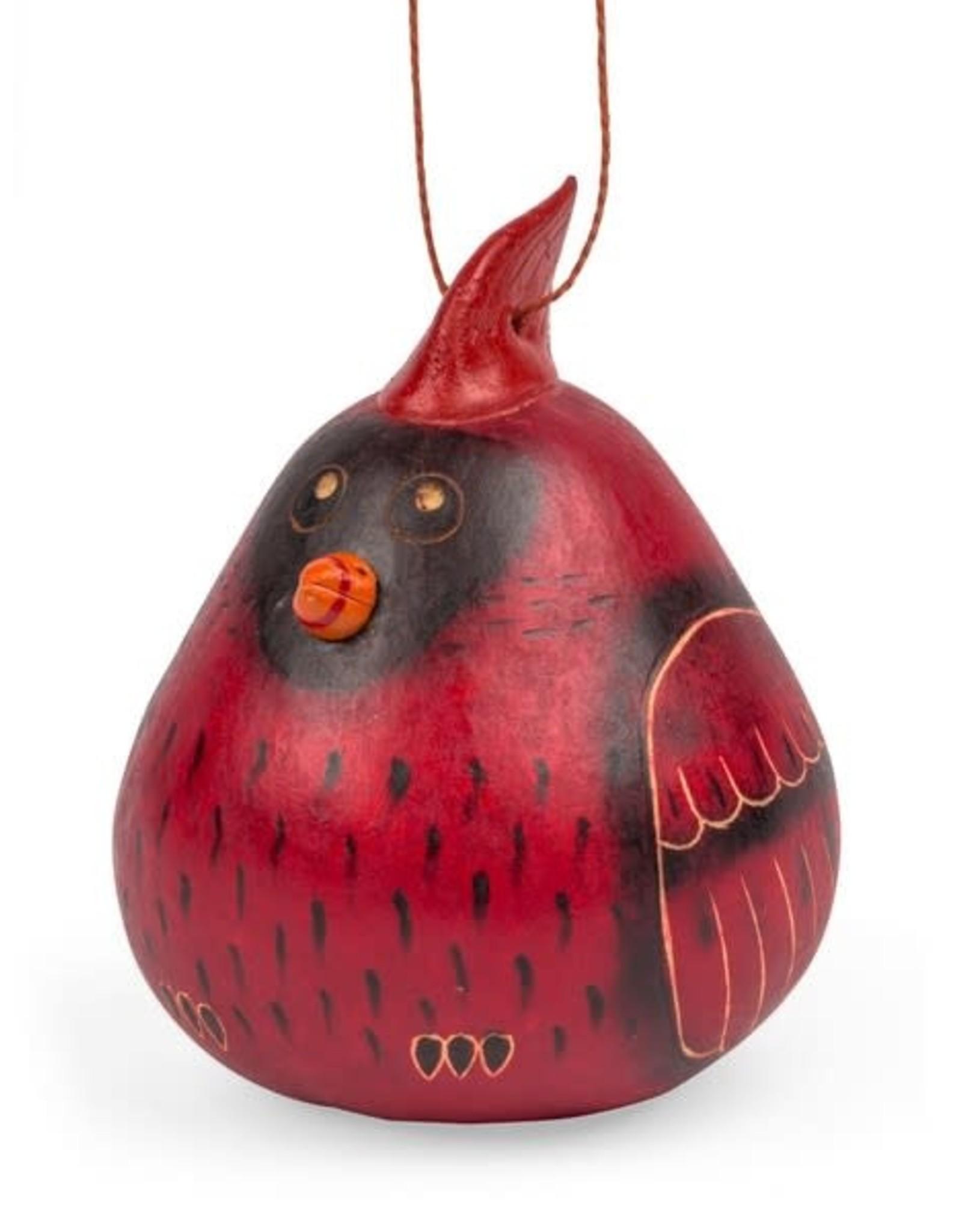 Ten Thousand Villages Cardinal Gourd Ornament