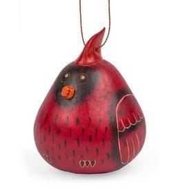 Cardinal Gourd Ornament