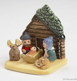 Ten Thousand Villages Log Cabin Nativity