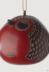 Ten Thousand Villages Baby Owl Gourd Ornament