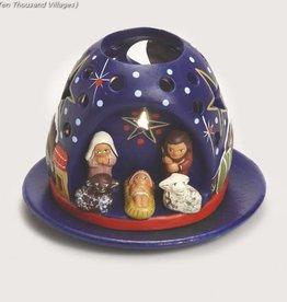 Mountain Tea Light Nativity