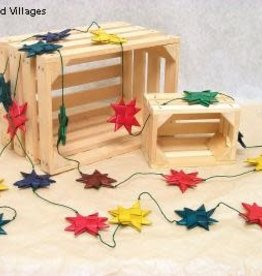 Ten Thousand Villages Multicolored Palm Star Garland