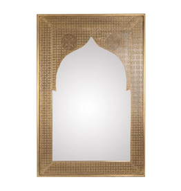 Mela Artisans Heritage Refined Gold Mirror