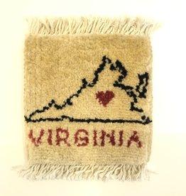 Bunyaad Pakistan Virginia Love II Mug Rug Ivory
