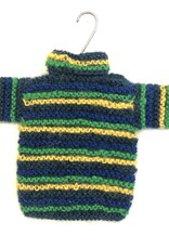 Ten Thousand Villages Handknit Sweater Ornament Blue Assorted