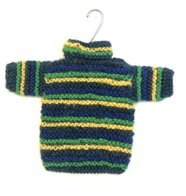 Handknit Sweater Ornament Blue Assorted