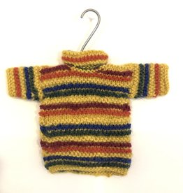 Handknit Sweater Ornament Gold Assorted