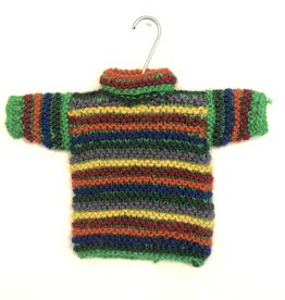 Ten Thousand Villages Handknit Sweater Ornament Green Assorted