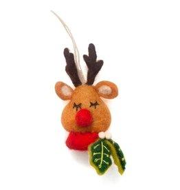 Hamro Village Sleeping Rudolph Ornament