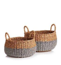 Serrv Hogla Two-Tone Basket - Medium