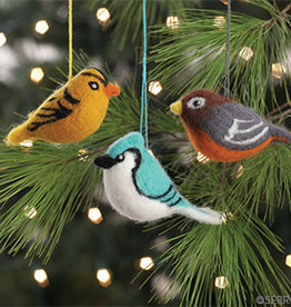 Serrv Felted Bird Ornaments