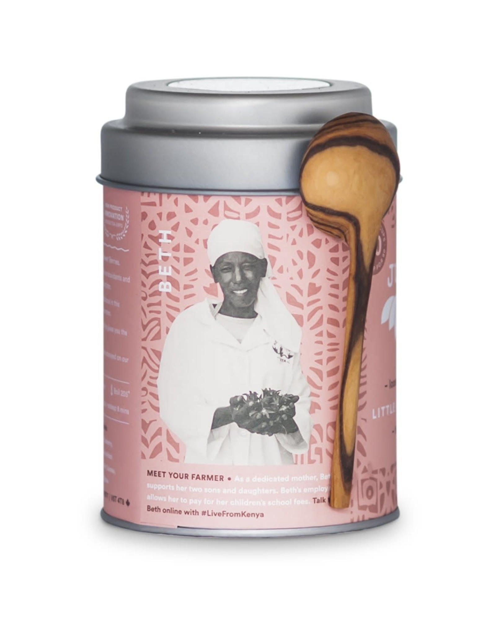 CASE Little Berry Hibiscus Tin with Spoon